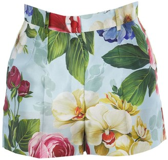 Dolce & Gabbana Floral Printed Tailored Shorts