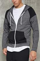 Forever 21 FOREVER 21+ Contrast-Panel Zippered Hoodie
