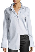 Equipment Arlette Narrow-Striped Poplin Shirt, Multi Pattern
