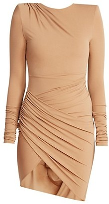 Alexandre Vauthier Long Sleeve Wrap Mini Dress