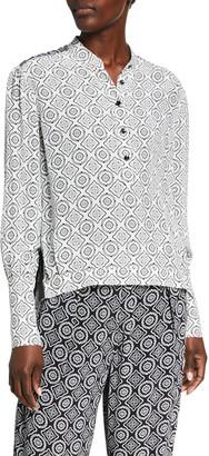 Rag & Bone Tallulah Printed Button-Front Blouse