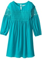 Us Angels 3/4 Sleeve w/ Lace Inset A-Line Dress Girl's Dress
