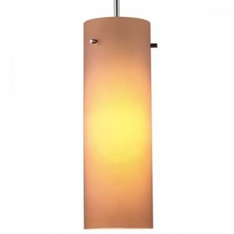 Bruck Lighting Titan 1-Light Single Cylinder Pendant Color: Bronze, Dimmer Switch: Yes, Glass Color: Amber