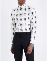Alexander Mcqueen Peacock-print Regular-fit Silk-twill Shirt