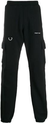 Off-White Elastic Waist Track Pants