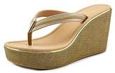 Aldo Capricchia Open Toe Leather Wedge Heel.