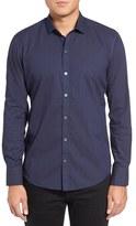 Zachary Prell Men's Taylor Trim Fit Print Sport Shirt