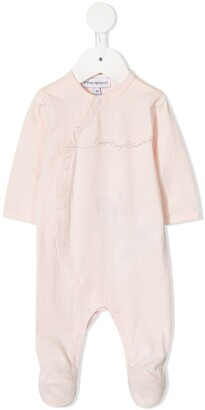 Emporio Armani Kids Logo Print Pajama