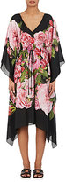 Dolce & Gabbana Women's Rose-Print Silk Short Caftan