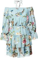 Alice + Olivia Alice+Olivia ruffle floral print dress