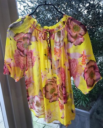 Charlotte Sparre Popi Yellow Wrinkle Blouse - xs | Popi Yellow