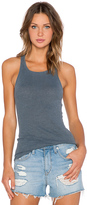 Stateside Ribbed Racerback Tank in Gray