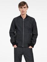 Calvin Klein Platinum Sculpted Denim Bomber Jacket