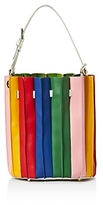 Sara Battaglia Rainbow Leather Bucket Bag