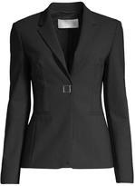 BOSS Julea4 Strech Wool-Blend Metal Snap Pinstripe Jacket