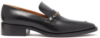 Marc Jacobs Runway - Chain-embellished Square-toe Leather Loafers - Womens - Black