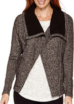 Liz Claiborne Weekend Sherpa-Collar Front-Zip Jacket