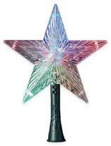 Kurt Adler 8.5-Inch Plastic Color-Changing Star Tree Topper with LED Lights