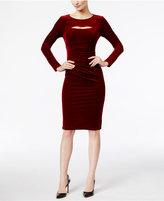 INC International Concepts Cutout Velvet Sheath Dress, Only at Macy's