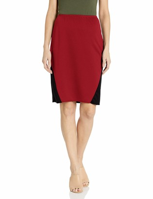 Star Vixen Women's Stretch Sexy Secretary Pencil Skirt with Insets