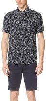 NATIVE YOUTH Ink Blot Print Short Sleeve Shirt
