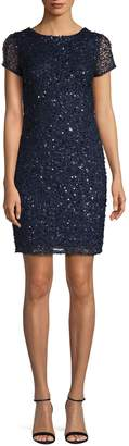 Adrianna Papell Embellished Shift Dress