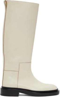 Jil Sander Off-White Riding Boots