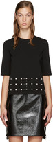 Versus Black Studded Cut-Out T-Shirt