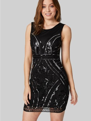 M&Co Izabel sequin embellished shift dress