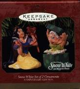 Hallmark Snow White and Dopey Set of 2 Ornaments Disney 1997 Ornament