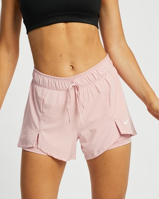 Nike Women's Pink Shorts - Flex Essential 2-In-1 Training Shorts - Size XS at The Iconic