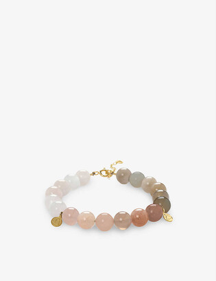 THE ALKEMISTRY Cinta 18ct yellow gold and moonstone beaded bracelet