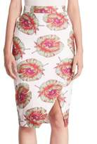 Altuzarra Wilcox Floral-Print Pencil Skirt