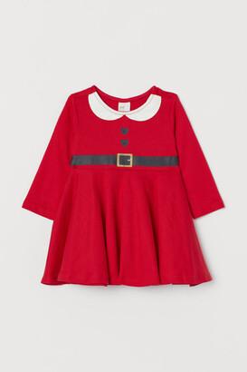 H&M Cotton Jersey Dress - Red