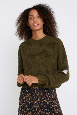 Urban Outfitters Knit Fisherman Jumper - black XS at