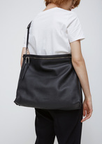 Jil Sander black zipper tote