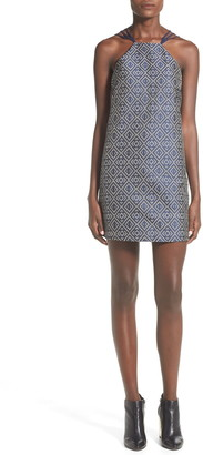 Whitney Eve 'Bara' Strappy Jacquard Shift Dress