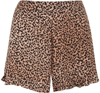 New Look Leopard Print Ruffle Shorts