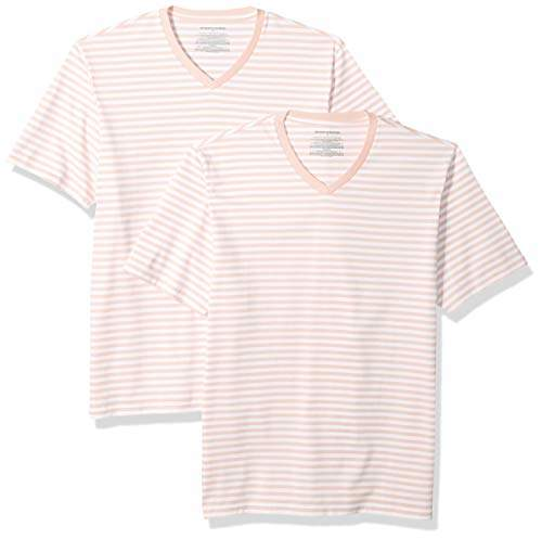 e47266020a Mens Pink Fitted V Neck Tee Shirt - ShopStyle