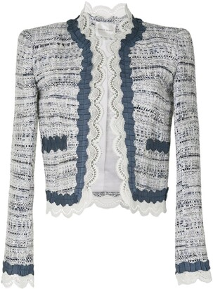 ZUHAIR MURAD Lace-Trimmed Tweed Jacket