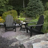 Adirondack Highpoint Plastic Chair with Table Alcott Hill Color: Black