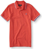 Aeropostale Mens A87 Tipped Logo Pique Polo Shirt