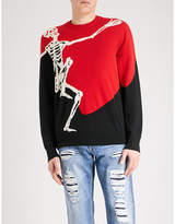Alexander Mcqueen Skeleton-intarsia Wool And Cashmere-blend Jumper