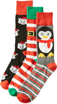 Modern Heritage Men's Set Of 3 Holiday Socks