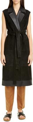 PARTOW Abigail Leather & Suede Vest