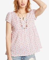 Denim & Supply Ralph Lauren Floral Voile Button-Front Top