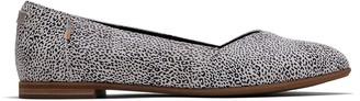 Toms Black Leopard Suede Women's Julie Flats