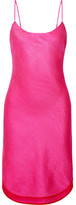Maiyet Arc Hammered Cotton And Silk-blend Dress - Bright pink