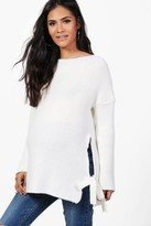 boohoo Maternity Holly Tie Side Jumper