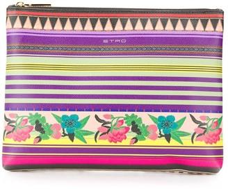 Etro Colour-Block Zipped Clutch Bag